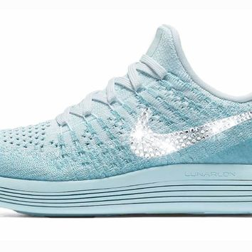 Nike LunarEpic Low Flyknit 2 + Crystals - Glacier Blue