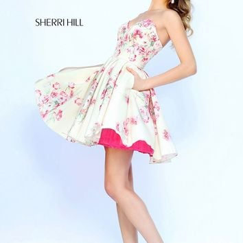 Sherri Hill 32246 Fancy Floral Print Dress