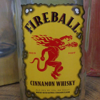 Fireball Whiskey Vase - Made from Recycled 750ml Bottle