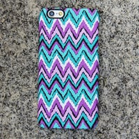 Turquoise Chevron iPhone 6s case iPhone 6 plus Case Violet iPhone 5S iPhone 5C iPhone 4S 4 Case Samsung Galaxy S6 edge S6 S5 S4 S3 Case 039