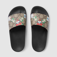 Gucci - Children's GG Gucci pets and flowers slides