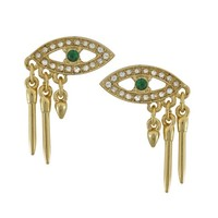 Lulu Frost Emerald Panoptes Stud | SOPHIE'S CLOSET®