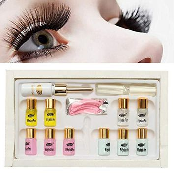 Eyelash Lash Eyelashes Wave Curling Perming Curler Rod Glue Perm Kit Sets