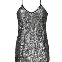 BKE Boutique Metallic Disc Tank Top
