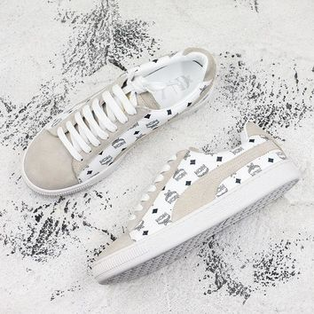 Puma x MCM Suede Classic Sneakers White - Best Deal Online