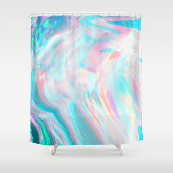 Fluid colors Shower Curtain by printapix