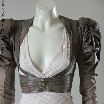 Steampunk Gothic  Bolero Underbust Harness Leather by chrisst