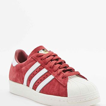 Adidas Superstar 80s Suede Trainers in Burgundy - Urban Outfitters