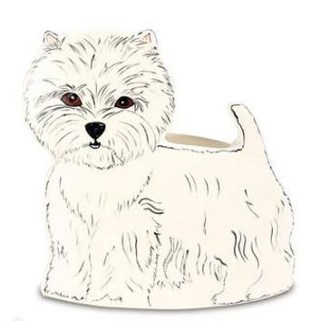 "Dee Oh Gie West Highland White Terrier Dog Planter Vase 9.25"" x 9"""
