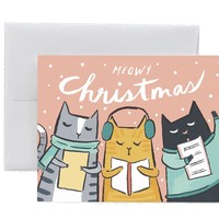 Kitty Carols Card