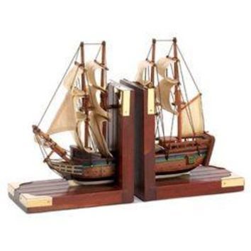 Sailing Schooner Bookends (pack of 1 PR)