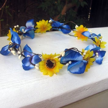 Shop Hippie Flower Headband On Wanelo
