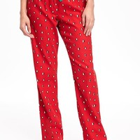 Flannel Drawstring Sleep Pants for Women | Old Navy