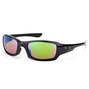 One-nice™ Oakley Fives Squared Sunglasses Polished Black Polarized Prizm Shallow Water
