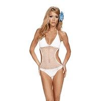 Sexy Club Crochet One Piece Swim Suit