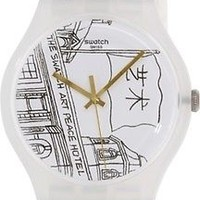 Swatch Men's Originals SUOZ197 White Silicone Swiss Quartz Watch