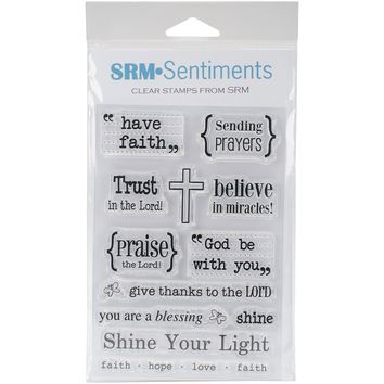 "SRM Bible Journaling Clear Stamps 4""""X6""""-Words Of Faith"