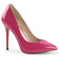 Hot Pink Pointy Slip-On Pumps
