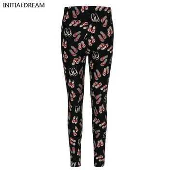 Leggings women  Floral Print Leggings stretch pants  female winter fun cotton soft  Leggings with printed