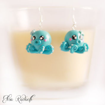 CHEWY octupus earrings - polymer clay