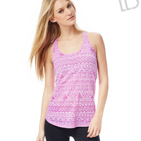 Live Love Dream Womens LLD Geo Burnout Racerback Tank Top