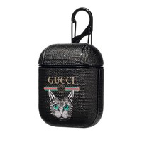 GUCCI New Popular Cute Cat Pattern AirPods Bluetooth Wireless Earphone Case Protector (No Headphones)