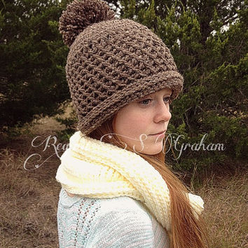 Cowl, pompom hat, boot cuffs, warm weather accessories, women's, neutral, beige, cream, reversible, typing gloves, driving, touchscreen
