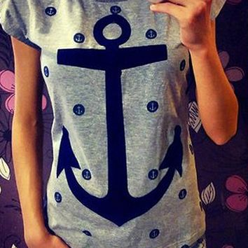 Anchor Print Short Sleeve T-Shirt