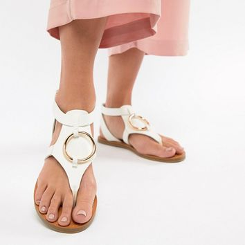 ASOS DESIGN Farringdon Flat Sandals at asos.com