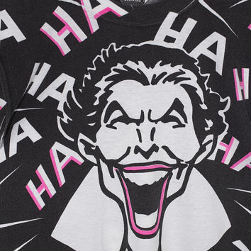 80s THE JOKER HAHA all over print t shirt - vintage 1980s - batman - dc comics