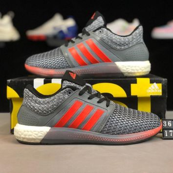 ADIDAS CC COSMIC BOOST Fashionable Men Women Net Surface Breathable Running Sport Shoes Sneakers Grey