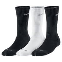 Nike Dri-FIT Cushion Crew Socks (3 Pair) Size Medium (Black)