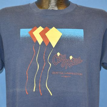 80s City Kites Seattle Washington t-shirt Large