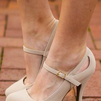 Working Up The Courage Heels-Nude