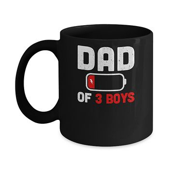 Funny Dad Of 3 Boys Fathers Day Gifts Mug