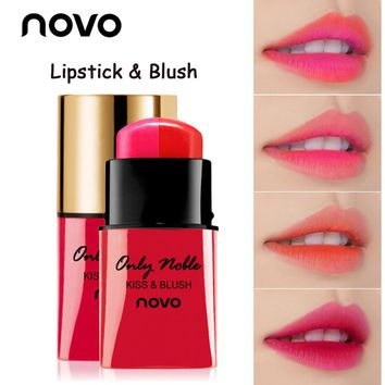 NOVO New Sexy Double-color Long Lasting Pigments Lip Stick Moisturizer Gradient Color Waterproof Matte Lips Lipstick Makeup