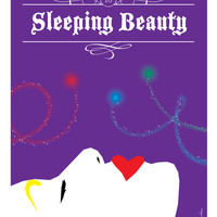 Sleeping Beauty Stretched Canvas by Drawn by Ross