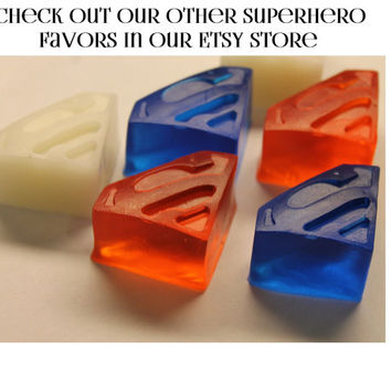Superman Party Favors - Super Hero Party Favors for Kids Birthday Party Favor or Kids Scented Soap - Pack of 25