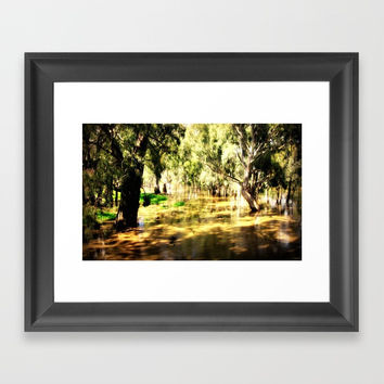 Flooded Plains Framed Art Print by Chris' Landscape Images & Designs