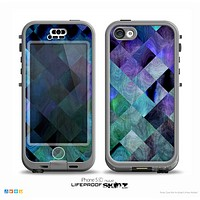 The Multicolored Tile-Swirled Pattern Skin for the iPhone 5c nüüd LifeProof Case