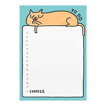 To Do Snooze Cat A5 Notepad [Ohh Deer]