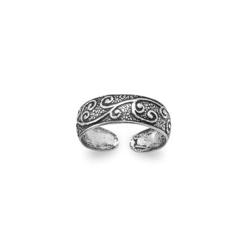 Oxidized Toe Ring