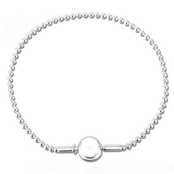 New ESSENCE COLLECTION Beaded Bracelet Bangle Fit Women Bead Charm DIY Pandora Jewelry 925 Sterling Silver Bracelet