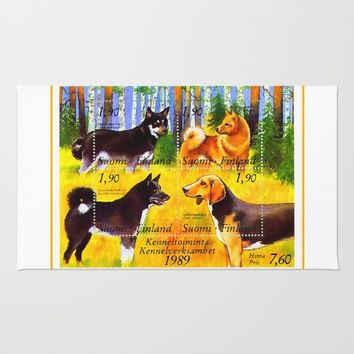100 Years Union of Finnish Dog Breeders Rug by lanjee