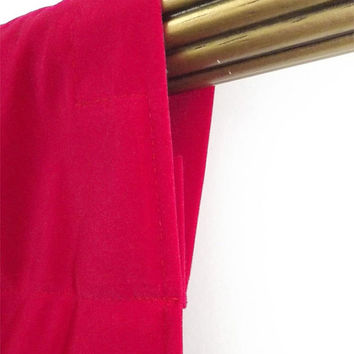 "Custom Fuchsia Velvet 108""H Curtain Long Panel Extra Length Ready Made Size For Stage/Theater/Trade Show/Wedding/Studio/Event Drapery & More"
