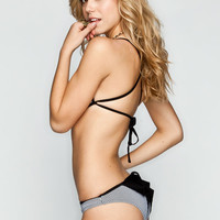 Damsel Stripe Bow Bikini Bottoms Black/White  In Sizes