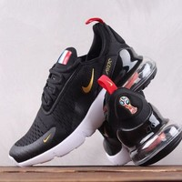 hcxx N009 Nike Air Max 270 Flyknit France The World Cup Breathable Running Shoes Black