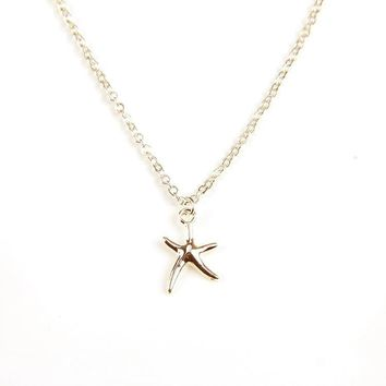 Starfish Necklace with Inspirational Message Card