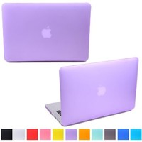 "HDE MacBook Pro 15 Inch Non-Retina Case Hard Shell Cover Rubberized Soft Touch - Fits Mac Notebook 15.4"" (CD Drive) Model A1286 (Purple)"