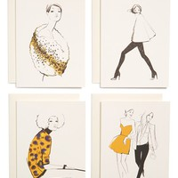 RIFLE PAPER CO x Garance Dore Note Cards - Ivory (Set of 8)